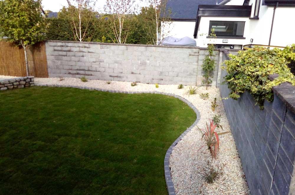 Patio garden angle