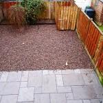 Garden landscaping. After