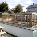 See through fence in Newcastle. Property landscaped