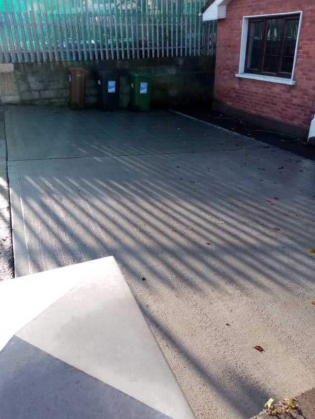 New driveway in Oranmore, Galway. After