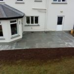 New patio and landscaping in Ballinderreen