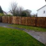 Side garden fence job in Tuam