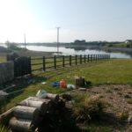 Post and rail fence with gate in Maree, Oranmore