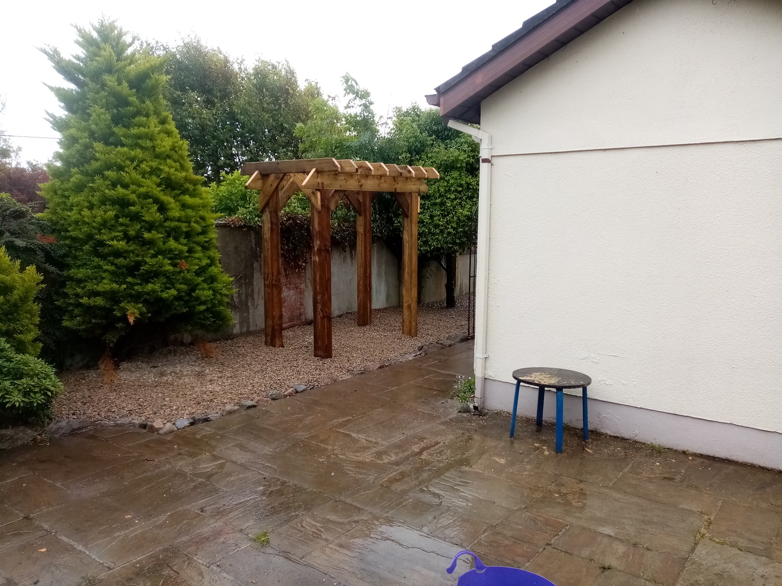 Pergola and stone job in Salthill, Galway.