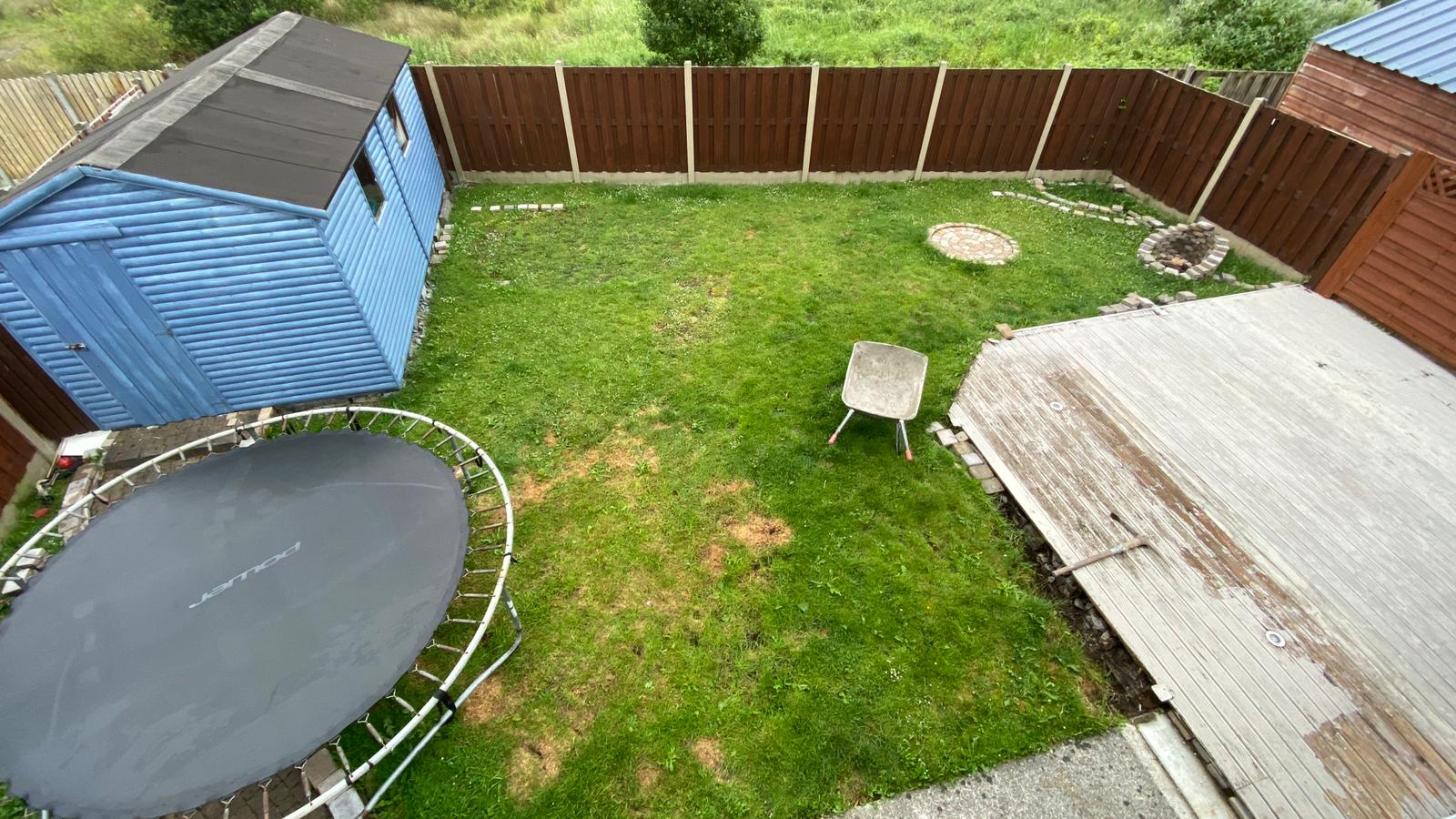 Garden transformation in Oranmore. Before