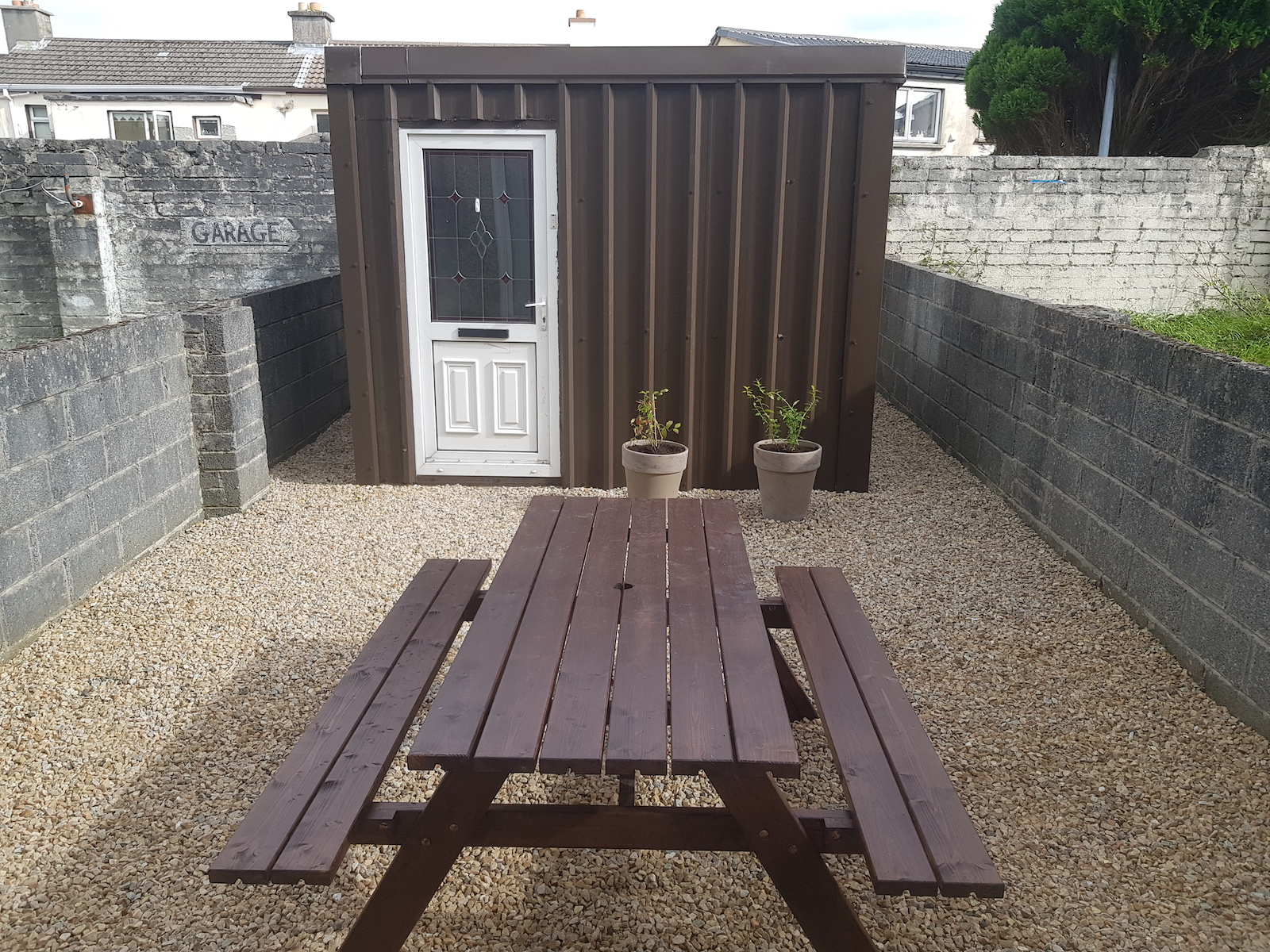 Custom shed and gravel paving in Galway