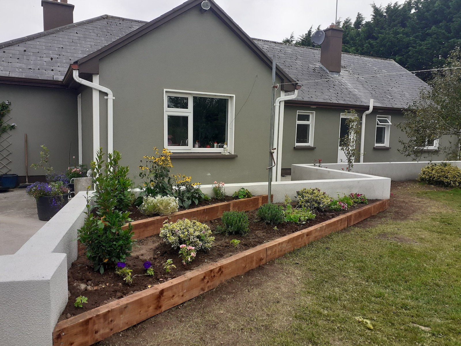 Flood retention and raised beds